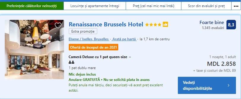 Renaissance Brussels Hotel, Maia Sandu la Bruxelles, în ce hotel a fost cazată Maia Sandu la Bruxelles, vizita Maiei Sandu în UE, moldovean din diaspora, moldovean din Bruxelles, atitudinea presedintelui fata de popor